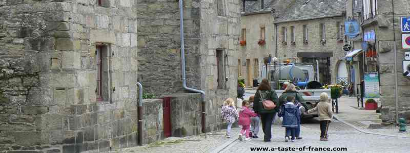 Roscoff street Brittany