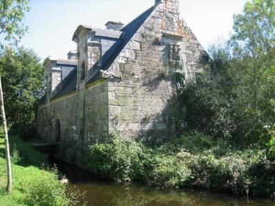 16th.Century mill,  main house opposite