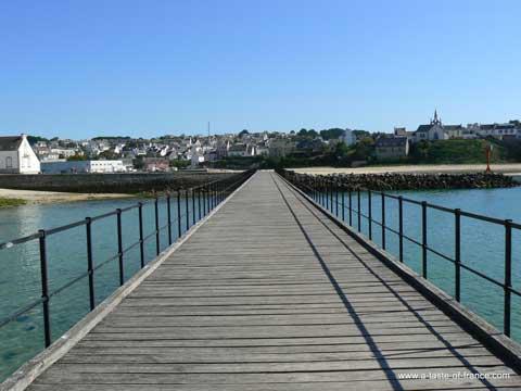 Audierne foot bridge Brittany