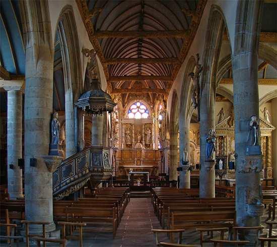 Bodilis Notre Dame church Brittany
