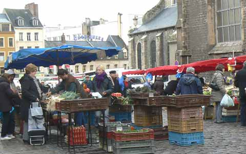 Boulogne market stall picture