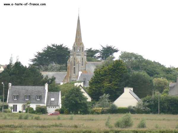 the village of Brignogan Plages  Brittany