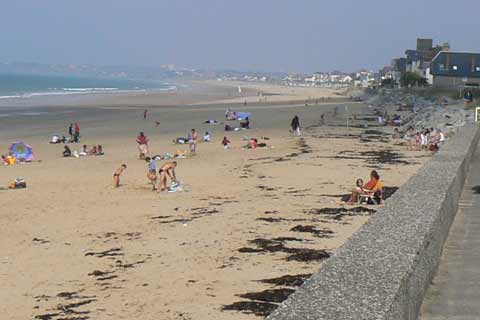 Carolles Plage beach Normandy