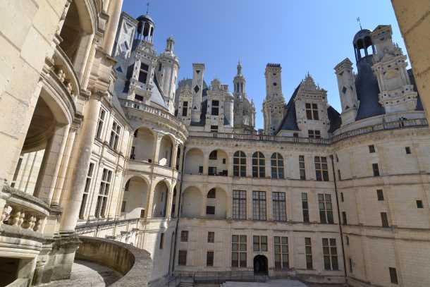 French chateau Chambord in loire region picture