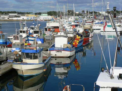 Concarneau harbour Brittany