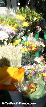 Concarneau market flower stall