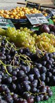 Concarneau market fresh grapes