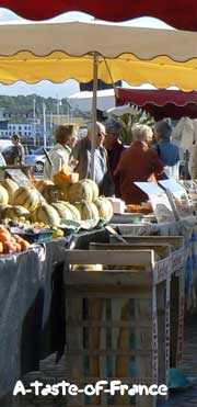 Concarneau market  stall