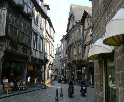 Dinan the old town Brittany