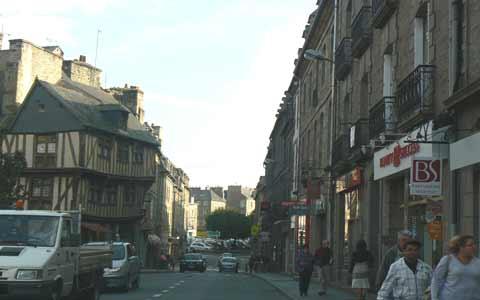 Dinan main road Brittany