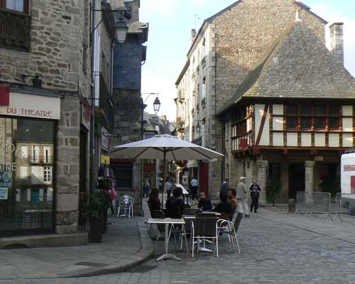 Dinan cafe Brittany