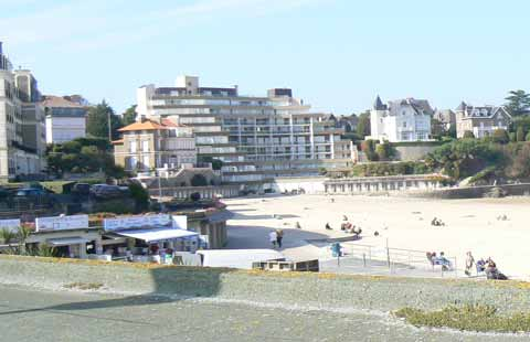 Dinard beach Brittany
