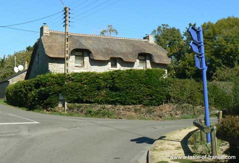 Doelan thatched cottage Brittany