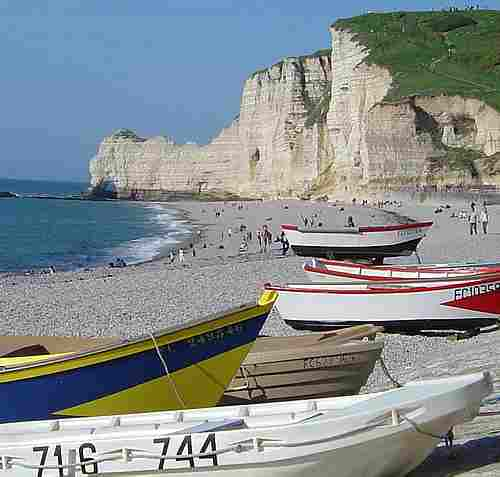 Etretat Normandy beach picture