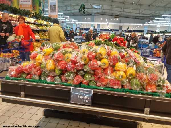 France fresh produce supermarket