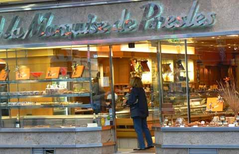Granville chocolate shop Normandy