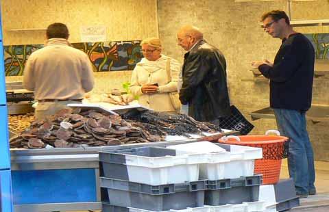 Granville fish shop Normandy