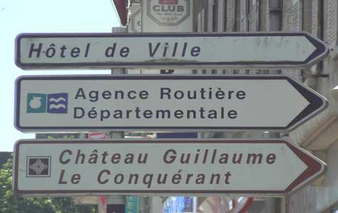 Guillaume Le Conquerant sign Calvados Normandy