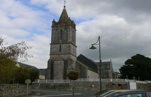 Hauteville sur mer church Manche Normandy