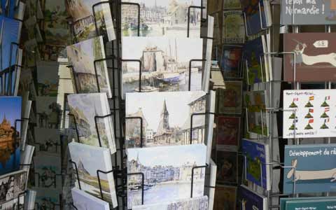 Honfleur post cards Manche Normandy