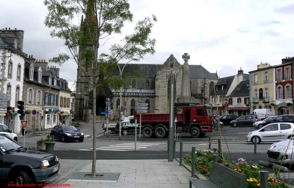 The town of Landivisiau  Brittany