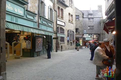 Le Mont Saint Michel street Manche Normandy