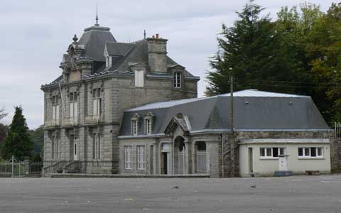 Mortain old chateau Manche Normandy