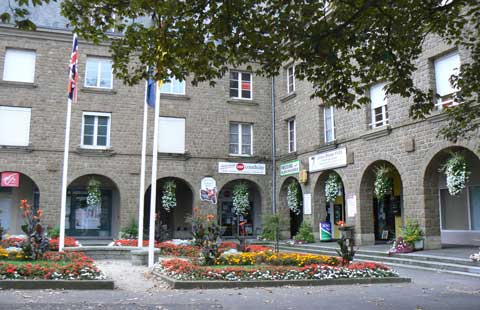 Mortain centre Manche Normandy