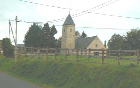Noirpalu church Manche Normandy