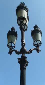 Paris ar deco lamp post