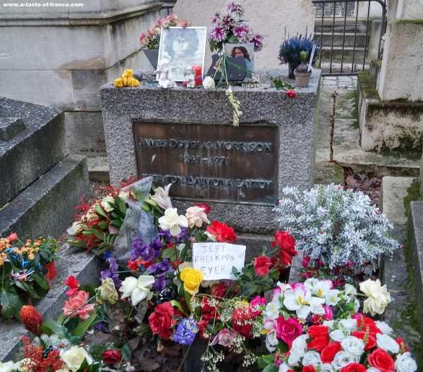 Jim Morrison Pere Lachaise cemetery Paris