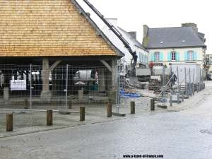 Plouescat old market Brittany