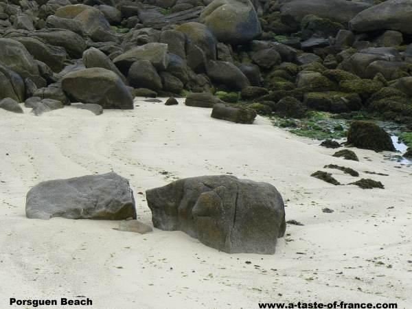 the beach Porsguen