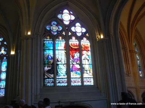 Quimper cathedral window Brittany
