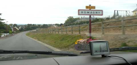 Romagny road sign manche Normandy