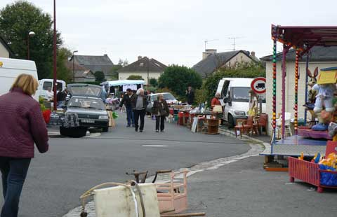Romagny street Manche Normandy