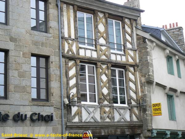 old house in Saint-Brieuc Brittany France