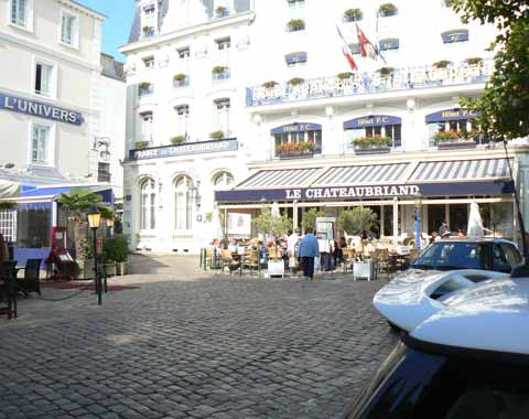 St Malo cafe in the square