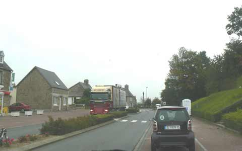 Sainte Cecile main road manche Normandy