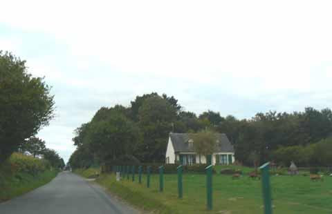 Sainte-Pience road Manche Normandy