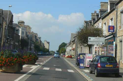 Sartilly street Manche Normandy