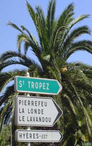 St Tropez sign