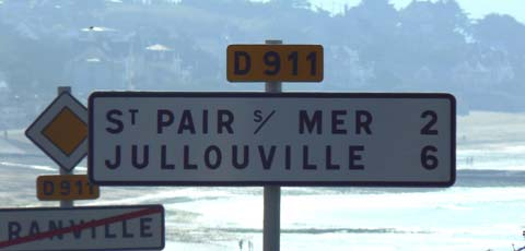 St Pair sur mer sign manche Normandy
