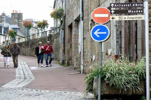 Villedieu les Poeles street Manche Normandy
