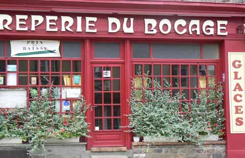 Villedieu les Poeles cafe Manche Normandy