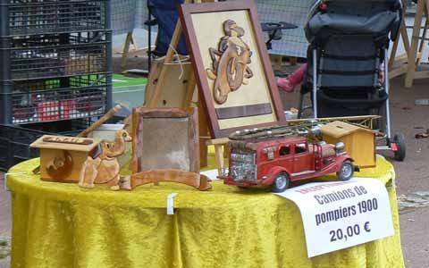 Villedieu les Poeles market wooden toys Manche Normandy