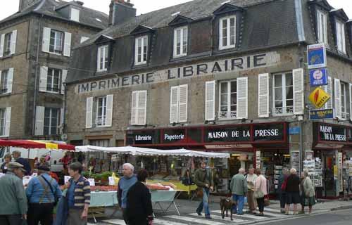 Villedieu les Poeles market Manche Normandy
