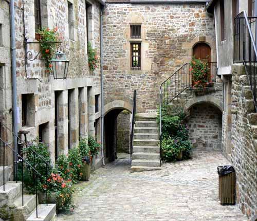 Villedieu les poeles old house manche Normandy