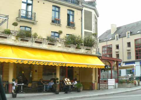 Vitre town centre cafe