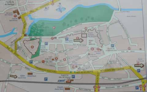 Vitre map Brittany